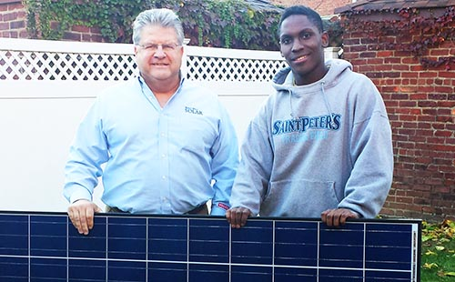 Bentley Whitfield, student who wants more urban solar power projects