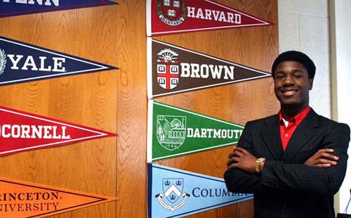 Kwasi Enin, student accepted all 8 Ivy League Universities
