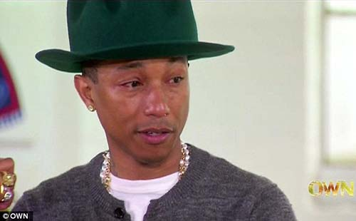 Pharrell Cries During Oprah Interview About Happy Song