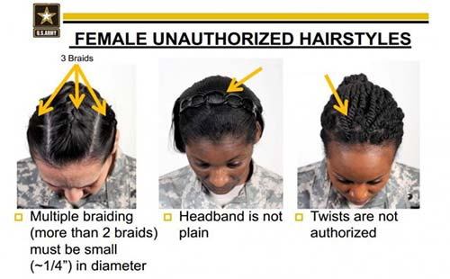 U.S. Army Hairstyle Discrimination and Ban Against Black Women