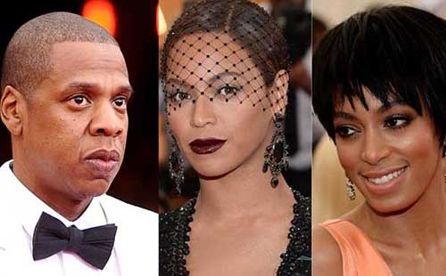 Jay-Z, Beyonce and Solange