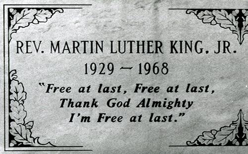 Martin Luther King Jr MLK Memorial Tomb