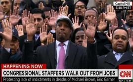 Congress Workers Walk Off Job