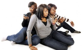 Black Teens Texting