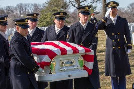 Wyley and Ouida Wright being laid to rest