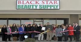 Black Star Beauty Supply Ribbon Cutting
