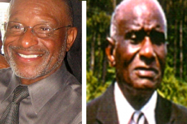 Dr. Charles L. Singleton (left) and his father, Clement A. Singleton, Sr.