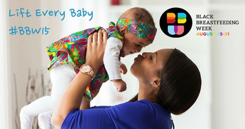 Baby Lift Up Celebration During Black Breastfeeding Week