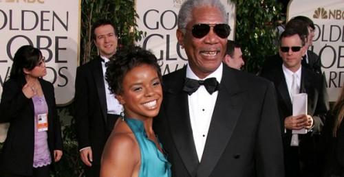 Morgan Freeman and Step Granddaughter