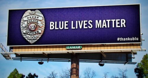 Blue Lives Matter Billboard
