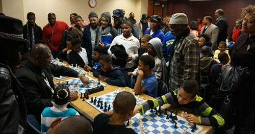 Orrin Hudson hosts a community event