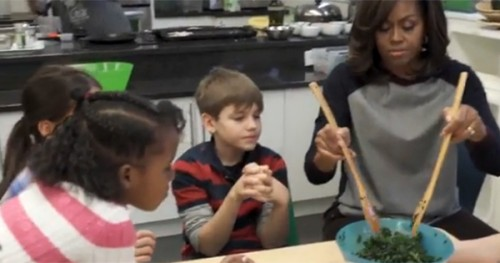 Michelle Obama Surprises DC Classroom