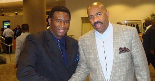 Orrin Hudson With Steve Harvey