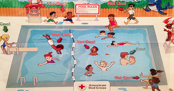 American Red Cross Racist Pool Sign