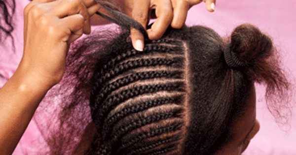 Hair braiding Black woman's hair