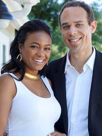 Tatyana Ali with husband