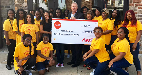 Teenshop Inc. receives grant from Coca-Cola
