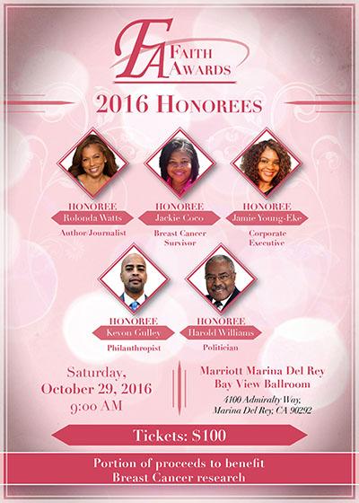 Faith Awards Honorees
