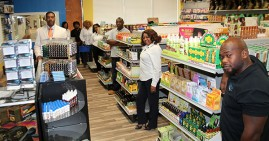 Beauty Supply Institute Training Team in Retail Store