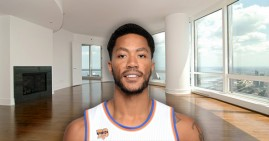 Derrick Rose in his Trump Tower Condo