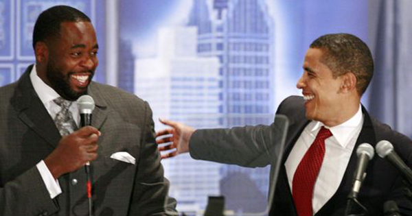 President Obama and Kwame Kilpatrick