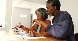 African American couple tax planning