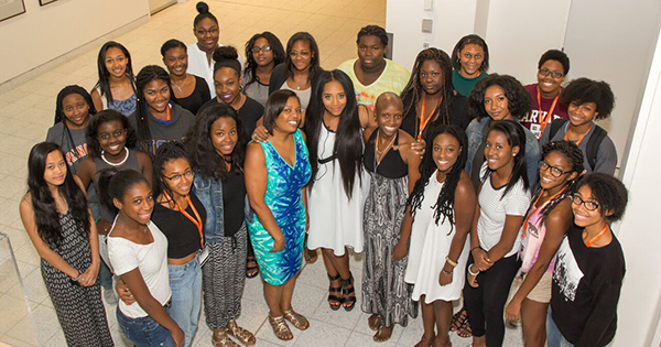 At the Well Scholars with actress Yandy Smith