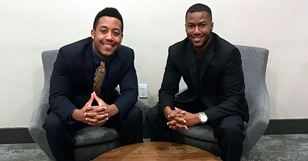 Jamal Wilson and Alexander Logan, founders of the Selfie Radar app