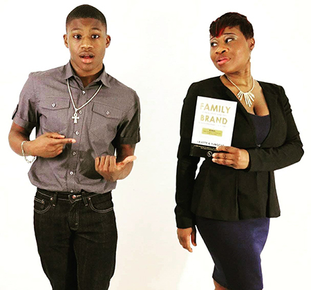 Lavette and Yungche, mother/son founders of the Family Brand Movement
