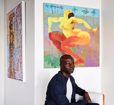 Olufemi Oyewole, founder of Afr-i-can contemporary art gallery in Los Angeles