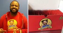 Derrick Collins, founder of Woody Wipes