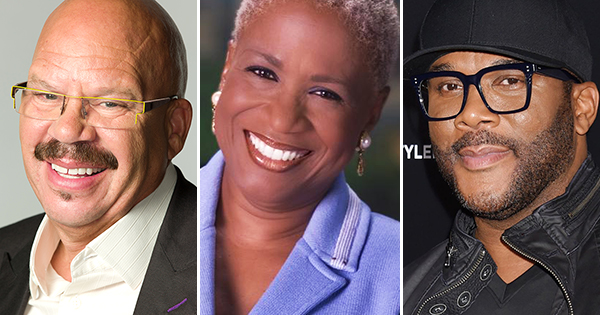Tom Joyner, Monica Pearson and Tyler Perry