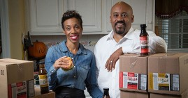 Chevalo and Monique Wilsondebriano, founders of Charleston Gourmet Burger Company