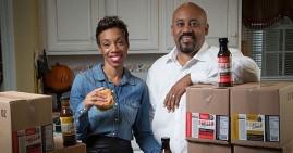 Chevalo and Monique Wilsondebriano, founders of Charleston Gourmet Burger Company