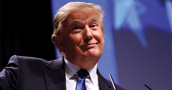 President Donald Trump smiling