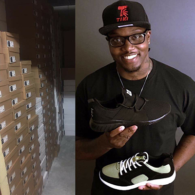 Javaris Neely, founder of Tiki Clothing Company and the WaveRunner sneakers