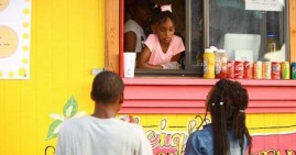 Kyleigh McGee, the 7-year old running her own food truck