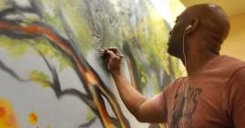 Artist Corey Barksdale