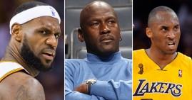 Michael Jordan, Kobe Bryant, and Lebron James