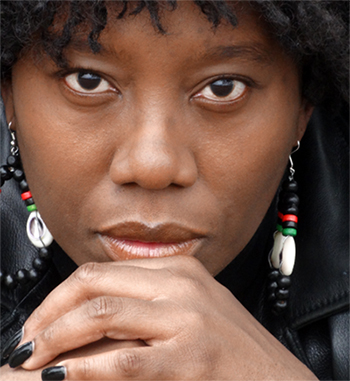 Qurell Amani, star of Panther Woman - the one woman show
