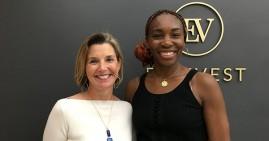 Venus Williams with Sallie Krawcheck