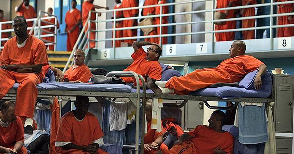 Black men in prison