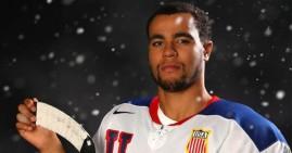 Jordan Greenway, first African American player on US Hockey team