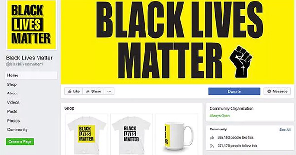 Black Lives Matter fan page