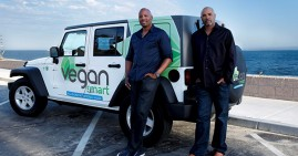 Claude Telis and Kareem Cook, founders of Vegan Smart
