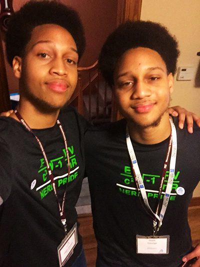 18-year old twin brothers Malik and Miles George