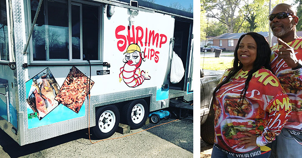 Doe and Johnny Carter, founders of Shrimp Lips food truck