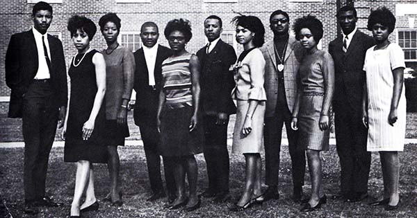Members of the class of 1968 at Elizabeth City State College