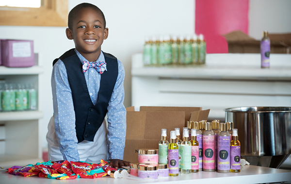 Caiden, 7-year old CEO in training at Naturalicious