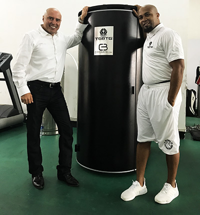 Dr. Tony Serna and Cyril White, founder of To God Be The Glory Sports